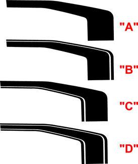 2014 & Up Silverado 1500 Silverado Rally Edition Stil Hockey Stripes
