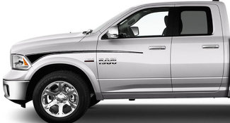 2009 & Up Dodge Ram Retro Fender Hockey Stick Stripes