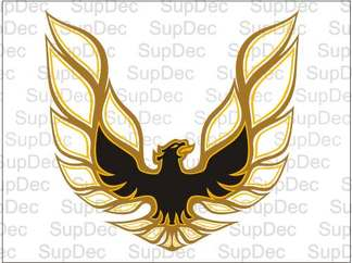 Firebird Trans Am Bird Hood Decal Sticker 3-Color