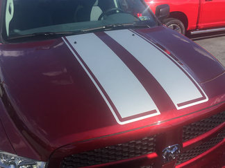 2009 - 2018 Dodge Ram Hood & Tailgate Rally Stripes