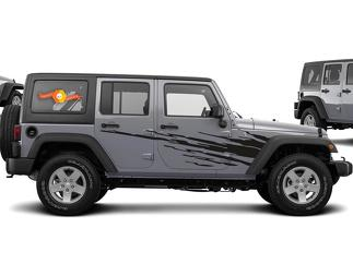 Universal Side Splash Stripe Kit  for JK and JL Jeep Wrangler