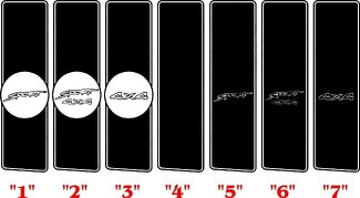 1994-2008 Dodge Ram Retro  Rally Bed Stripes Kit Decals