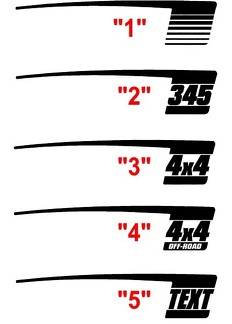 2009 - 2018 Dodge Ram Retro Hockey Stick Stripes
