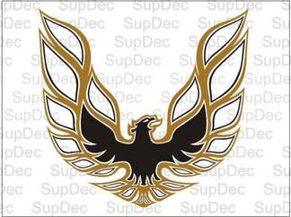 Firebird Trans Am Bird Hood Decal Decal 2-Color Pontiac