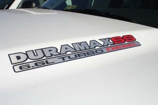 DURAMAX 6.6L Turbo Diesel SS Hood Decals - New Three Color Decal Design