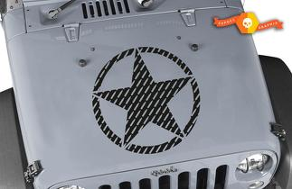 Oscar Mike 7.62 Bullet Star Hood Vinyl Decal 23