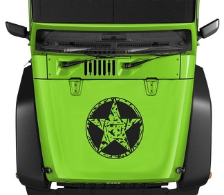 Oscar Mike Guns M4 AK Bullet Star Hood Vinyl Decal 23