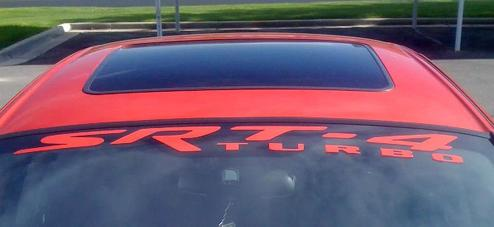 DODGE CHALLENGER TURBO SRT4 SRT8 Windshield decals stickers