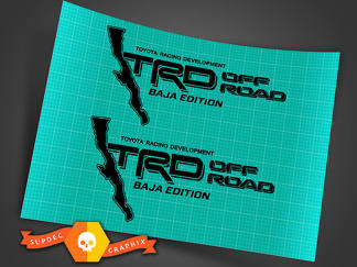 TRD OFF ROAD bed decal sticker Baja Edition Tacoma Tundra Toyota 4x4 Sport CALI