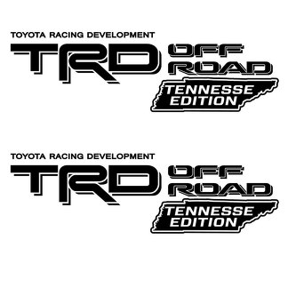 TRD OFF ROAD bed decal sticker Tennessee Edition Toyota Tacoma Tundra 4X4 Sport