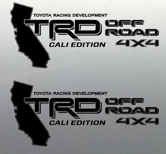 Trd off road decal sticker 4x4 California Edition Tundra Tacoma Toyota Sport