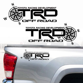 Toyota TRD Truck Off Road Racing Tacoma Tundra Compass Vinyl Sticker Decals
