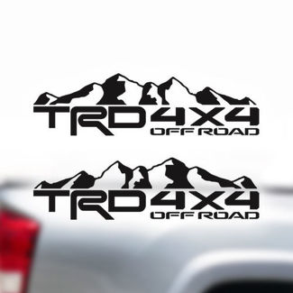 TRD 4X4 Off Road Mountain Toyota Tundra Tacoma Truck Decals Stickers Vinyl 4X4 B