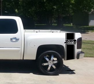 Chevrolet Z71 OFF ROAD Punisher Bed Stripe  Decals for CHEVY GMC Pickup Truck