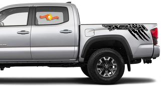 Side Bed Vinyl Decal Stickers Kit for Toyota Tacoma TRD off road raptor custom