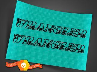 Jeep Wrangler Wrangler hood decals camo font
