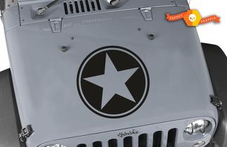 Jeep Wrangler freedom edition replica military star decal 2 decals