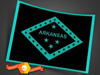 Jeep Wrangler Arkansas state flag Multiple colors and sizes