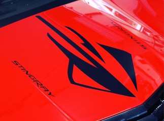 1950-2017 Chevrolet Corvette Stingray Z06 Hood Body Decal New 3PC Set Kit Z06