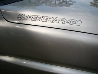 SUPERCHARGED Hood Decals / Door Badges / Fender Stickers
