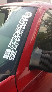 FORD Power Stroke Performance Turbo Diesel window A-Piller decal