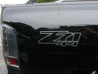 Z71 4x4 truckbedcals (ingesteld) Uw kleurkeuze. Past: Chevrolet Silverado GMC Sierra