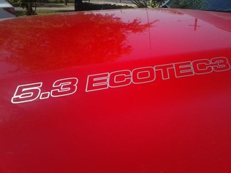 5.3L ECOTEC3 Hood Decals - Chevrolet