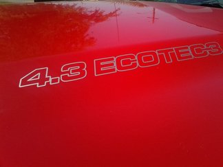 4.3L ECOTEC3 Hood Decals - Chevrolet