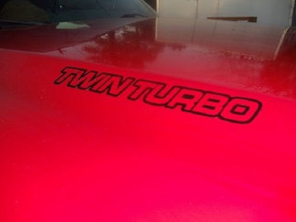 TWIN TURBO Hood Decals