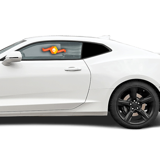 CHEVROLET CAMARO 2016-2018 SIDE REAR WINDOW BLACKOUT ACCENT DECAL