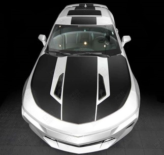 CHEVROLET CAMARO 2016- 2018 OVER THE TOP STRIPES HOOD, ROOF & REAR