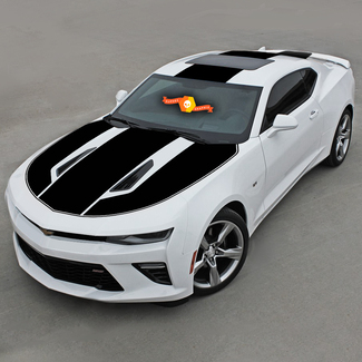 CHEVROLET CAMARO 2016 - 2018 OVER THE TOP STRIPES HOOD ROOF & REAR