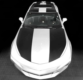CHEVROLET CAMARO 2016 - 2018 OVER THE TOP STRIPES HOOD, ROOF & REAR