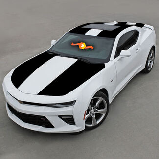 CHEVROLET CAMARO 2016 - 2018 OVER THE TOP VINYL STRIPES HOOD, ROOF & REAR