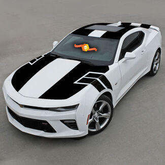 CHEVROLET CAMARO 2016-2018 NS1 STYLE TOP VINYL STRIPES COMPLETE SET