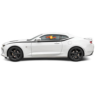 CHEVROLET CAMARO 2016- 2018 JAVELIN TOP SIDE ACCENT VINYL STRIPES