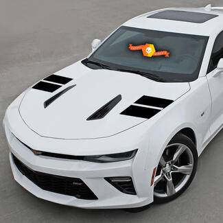 CHEVROLET CAMARO 2016-2018 HOOD HASH SIDE ACCENT VINYL STRIPES