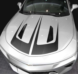 CHEVROLET CAMARO 2016-2018 HOOD ACCENT SCALLOP STRIPES
