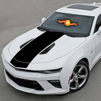 CHEVROLET CAMARO 2016-2018 HOOD ACCENT BLACKOUT DECAL VINYL STRIPE