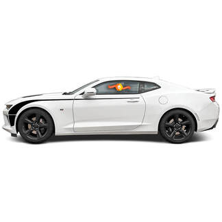 CHEVROLET CAMARO 2016-2018 EXTENDED HOCKEY SIDE ACCENT VINYL STRIPES