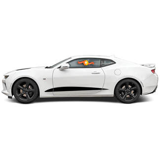 CHEVROLET CAMARO 2016-2018 DOOR/UPPER ROCKER PANEL SIDE VINYL STRIPES