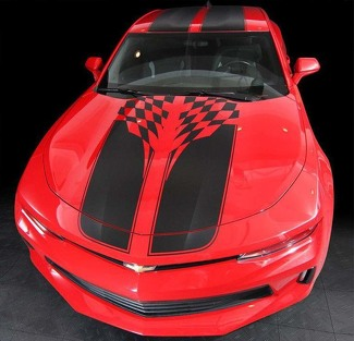 CHEVROLET CAMARO 2016-2018 CHECKERED SPORT STRIPES W/ ROOF