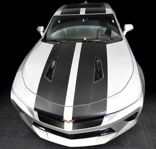 CHEVROLET CAMARO 2016- 2018 -SS- TOP RACING DOUBLE STRIPES