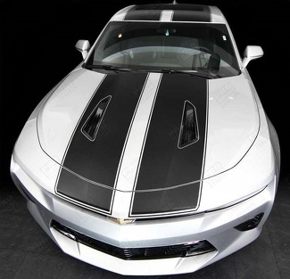CHEVROLET CAMARO 2016-2018 -SS- TOP DOUBLE STRIPES W/ PINSTRIPES