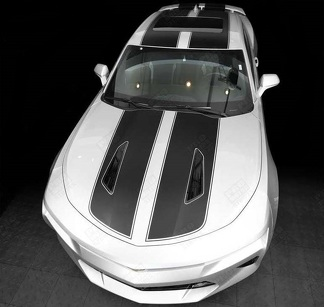 CHEVROLET CAMARO 2016- 2018 -SS- TOP DOUBLE STRIPES W/ PINSTRIPES