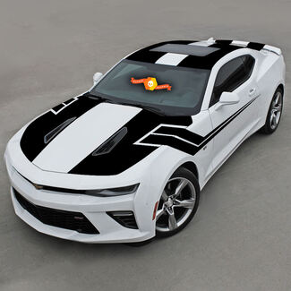 CHEVROLET CAMARO 2016-2018 -SS- TOP AND SIDE VINYL STRIPES COMPLETE SET