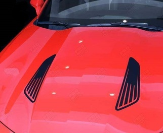 CHEVROLET CAMARO 2010-2018 HOOD LOUVERS IMITATION ACCENT DECALS