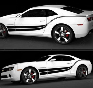 Chevrolet Camaro 2010-2020 Double Wave Side Stripes