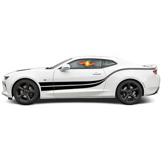 Chevrolet Camaro 2010-2020 Double Wave Side Accent Stripes