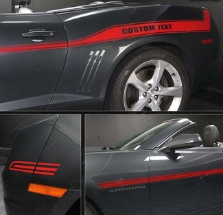 CHEVROLET CAMARO 2010- 2015 RACING SPORT SIDE STRIPES